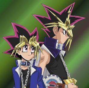 YuGi_And_Yami_Colored_by_usagisailormoon20