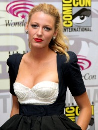 SAN FRANCISCO, CA - APRIL 01: Actress Blake Lively poses during 2011 WonderCon at Moscone Convention Center on April 1, 2011 in San Francisco, California. (Photo by Max Morse/Getty Images)