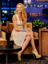 BURBANK, CA - JUNE 15: Actress Blake Lively appears on the Tonight Show with Jay Leno at NBC Studios on June 15, 2011 in Burbank, California. (Photo by Kevin Winter/Tonight Show/Getty Images for The Tonight Show)