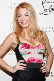 NEW YORK, NY - NOVEMBER 01: Actress Blake Lively attends the Christian Louboutin Cocktail party at Barneys New York on November 1, 2011 in New York City. (Photo by Cindy Ord/Getty Images)