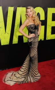 WESTWOOD, CA - JUNE 25: Actress Blake Lively arrives at the Los Angeles premiere of 'Savages' at Mann Village Theatre on June 25, 2012 in Westwood, California. (Photo by Jeffrey Mayer/WireImage)