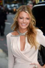 """NEW YORK, NY - JUNE 26: Actress Blake Lively enters the """"Late Show With David Letterman"""" taping at the Ed Sullivan Theater on June 26, 2012 in New York City. (Photo by Ray Tamarra/FilmMagic)"""