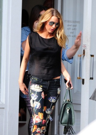 NEW YORK, NY - MAY 07: Blake Lively is seen in the West Village on May 7, 2013 in New York City. (Photo by Alo Ceballos/FilmMagic)