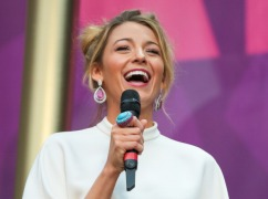 LONDON, UNITED KINGDOM - JUNE 01: Blake Lively on stage at The Sound Of Change Live Concert as part of Chime For Change at Twickenham Stadium on June 1, 2013 in London, England. (Photo by Christie Goodwin/Redferns via Getty Images)
