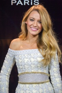 PARIS, FRANCE - OCTOBER 29: Blake Lively poses as the new L'Oreal egerie during the Annoucement Of The New Egerie L Oreal Paris at Shangri-La Hotel Paris on October 29, 2013 in Paris, France. (Photo by Dominique Charriau/WireImage)