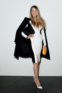 NEW YORK, NY - FEBRUARY 12: Blake Lively poses backstage before the Gabriela Cadena fashion show during Mercedes-Benz Fashion Week Fall 2015 at One World Trade Center on February 12, 2015 in New York City. (Photo by Wendell Teodoro/WireImage)