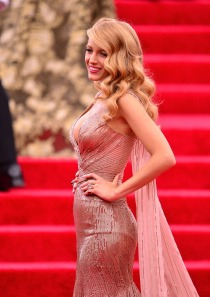 """NEW YORK, NY - MAY 05: Blake Lively attends the """"Charles James: Beyond Fashion"""" Costume Institute Gala at the Metropolitan Museum of Art on May 5, 2014 in New York City. (Photo by James Devaney/GC Images)"""