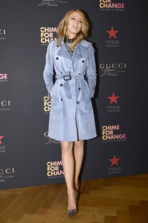 NEW YORK, NY - MAY 06: Blake Lively attends Gucci at Macy's Herald Square on May 6, 2014 in New York City. (Photo by Fernanda Calfat/FilmMagic)