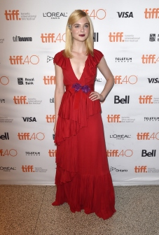 "TORONTO, ON - SEPTEMBER 12: Actress Elle Fanning attends the ""Trumbo"" premiere during the 2015 Toronto International Film Festival at The Elgin on September 12, 2015 in Toronto, Canada. (Photo by Kevin Winter/Getty Images)"