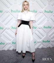 NEW YORK, NEW YORK - MAY 01: Elle Fanning attends 2019 Hulu Upfront at Scarpetta on May 01, 2019 in New York City. (Photo by John Lamparski/WireImage)